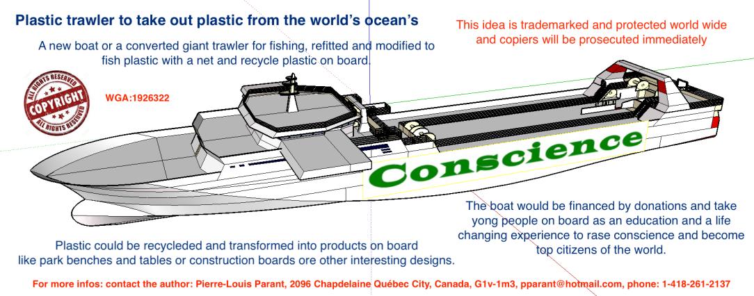 Plastic trawler